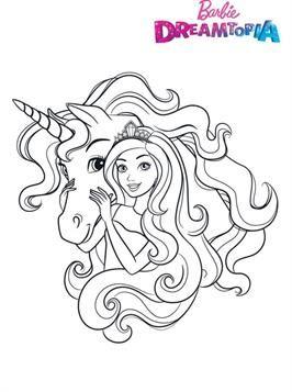 Schone Malvorlage Barbie Unicorn Auf Kids N Fun De Unicorn Coloring Pages Barbie Coloring Pages Princess Coloring Pages