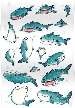 these are my whale sharks that i'm selling on things on my redbubble account! you can get them on whatever plus i have some stickers! <<-- not mine, but adorable Animal Drawings, Cute Drawings, Illustrations, Illustration Art, Shark Art, Posca Art, Cute Shark, Wale, Whale Sharks