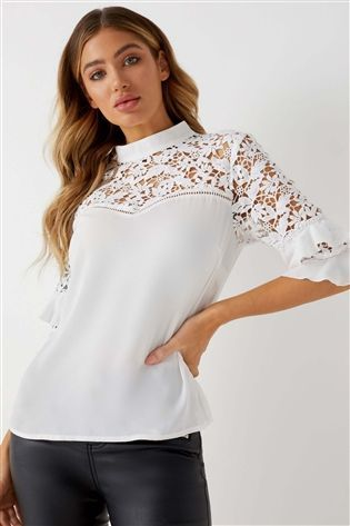 low priced promo codes reasonably priced Lipsy Lace Ruffle Sleeve Blouse | Clothes | Lace ruffle ...