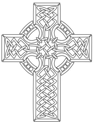 Free Printable Celtic Cross Patterns Celtic Coloring Celtic Art