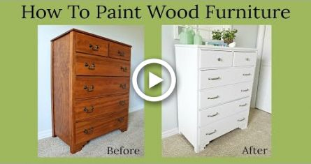 How To Paint Wood Furniture Painting Wood Furniture Wood Furniture Diy Painting Furniture Diy