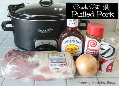 Yummy Healthy Easy: Easy Crock Pot BBQ Pulled Pork