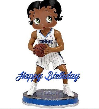 Betty Boop Nba Magic Birthday Card Betty Boop Nba Birthday Ecards