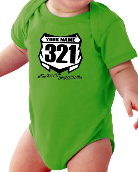 Tshirt Shirt Baby Print moto ktm Custom Baby Name and Number Bambini 2 - 16 anni Bambino: abbigliamento