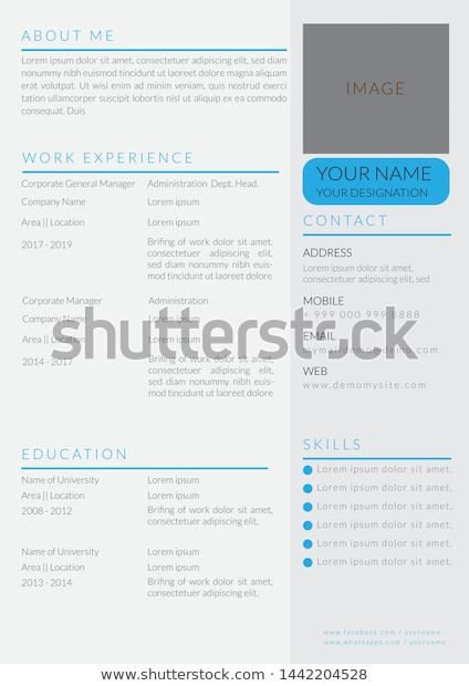 Find Administration Cv Resume Template Design Illustration Stock Images In Hd And Millions Of Other R Resume Design Template Cv Resume Template Template Design