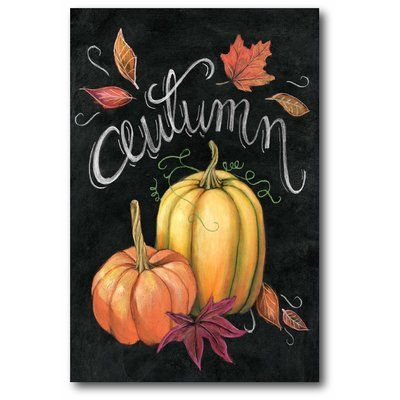 The Holiday Aisle 'Autumn Harvest I Gold Pumpkin' Graphic Art Print on Canvas