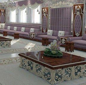 Salon marocain mauve – salon marocain – magnifique travail ...