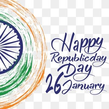 Indian Republic Day Concept With Text 26 January Vector Republic
