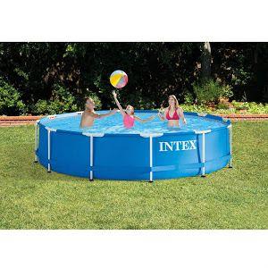 Intex 12 X 30 Metal Frame Pool Frame Pool Above Ground Swimming Pools Intex