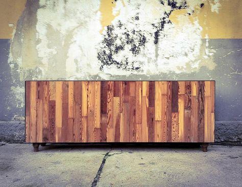 Lamiera Arredamento : Controprogetto credenza in legno rivestita in lamiera