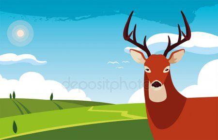 Deer Happy Autumn Season Flat Design Stock Vector Ad Autumn Season Deer Happy Ad Happy Fall Fall Season Vector Illustration