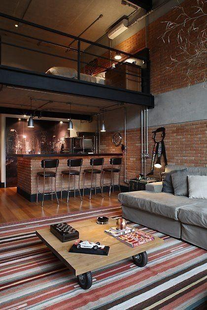 Amazing 63 Rustic Interior Design Ideas That Trending This Year Https De Corr Com 2019 04 19 63 Rustic Interior Industrial Loft Design Loft House Loft Design