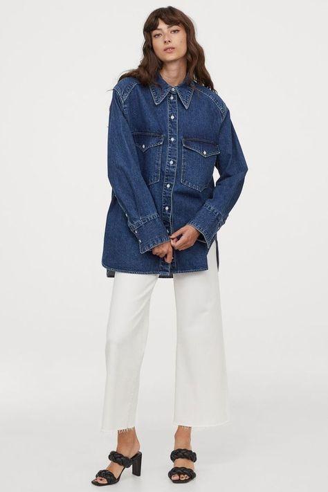 HM Oversized Denim Shirt