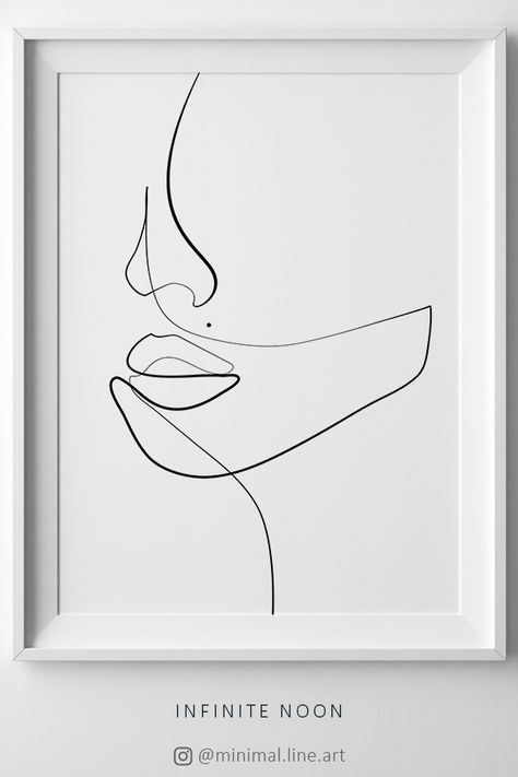 Woman One Line Drawing Face Figure, Abstract Simple Line Sketch, Minimalist Sketch, Line Art Woman, Fashion Illustration Print, Printable