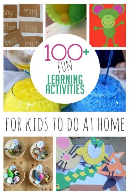 100+ Fun Learning Activities for Kids To Do At Home