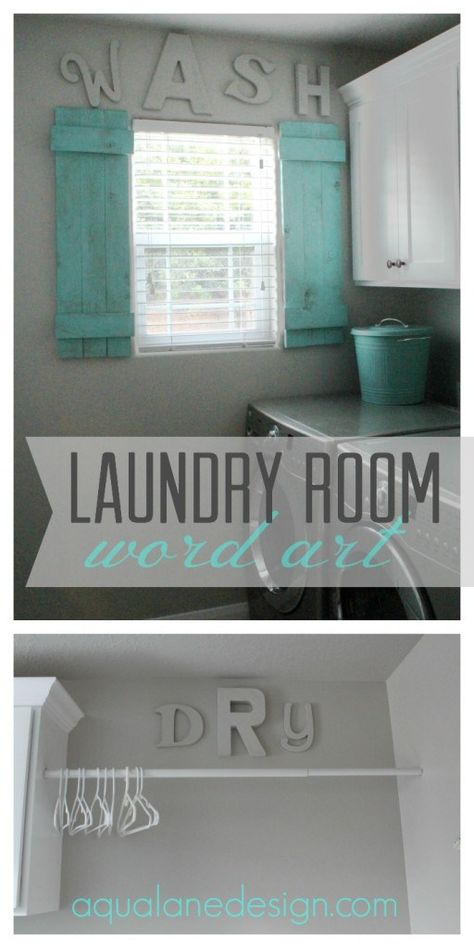 Personalize your #laundry room by making your own word art