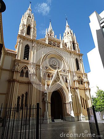 Malaga Port And City In Spain Famous Buildings And Church