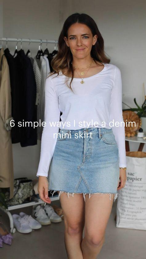 6 simple ways I style a denim mini skirt