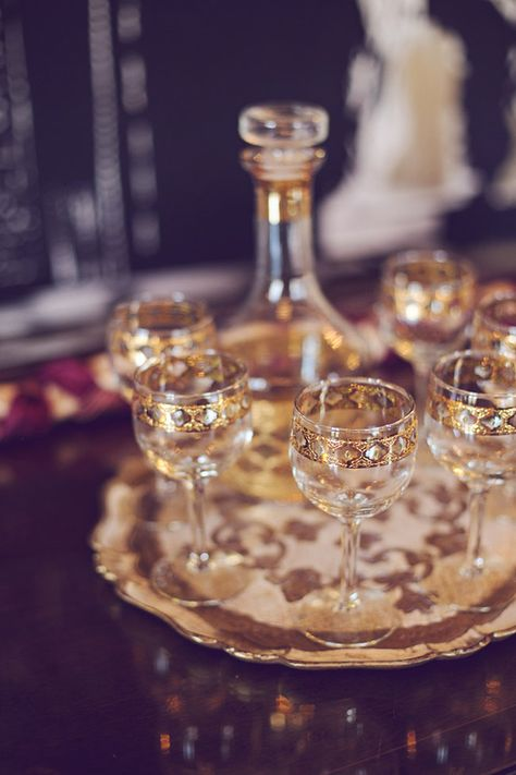 our gorgeous mid-century decanter set | photo by Amy Nicole Photography