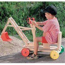 Exaco Toy Wooden Excavator/Digger - Walmart.com - Walmart.com