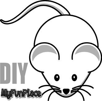 How To Draw A Cute Mouse Step By Step Cute Mouse Mouse Drawing Painted Rocks Diy