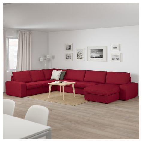 Kivik Ecksofa 6 Sitzig Mit Recamiere Orrsta Rot Recamiere Sofa Und Ecksofa