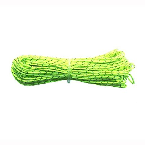 ThreeBulls 1.8mm Fluorescent Reflective Guyline Tent Rope Camping Cord Paracord,65 Feet