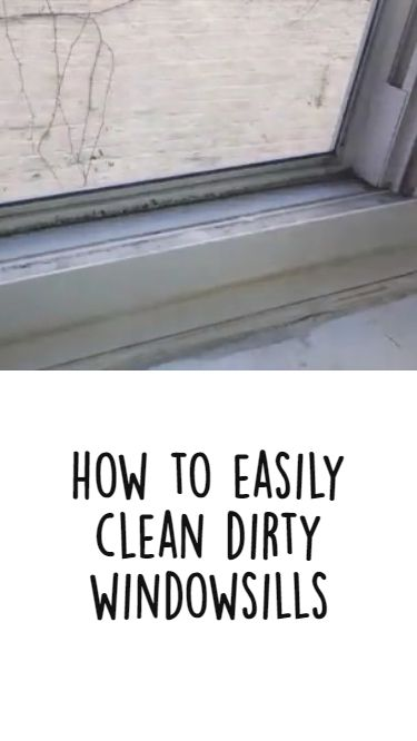 How to Easily Clean Dirty Windowsills with Vinegar