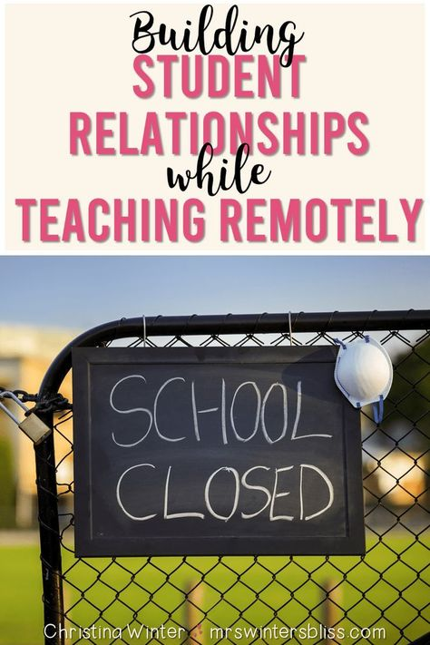 Remote teaching doesn't mean the end of positive teacher-student relationships! In this post are ideas, activities, and tips for teachers to continue building positive relationships with students. Teacher And Student Relationship, Student Teaching, Teaching Tips, Student Login, Teaching Music, Home Learning, Learning Resources, Learning Spaces, Learning Quotes