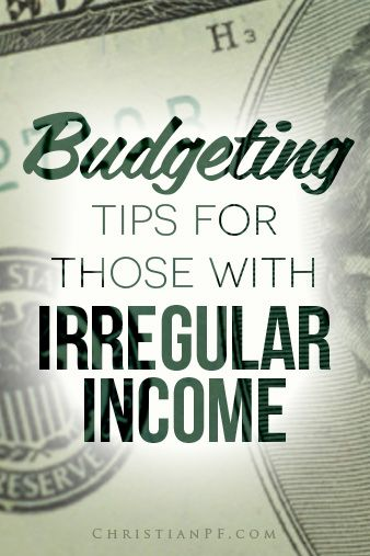 4 #budgeting tips for those with irregular income http://christianpf.com/budgeting-tips-irregular-income/