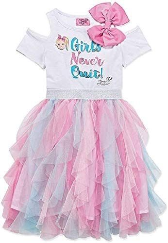 Jojo Siwa Girls Tulle Skirt with Bow