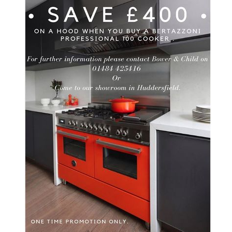 save £400 now on a cooker hood when you buy this bertazzoni! • #huddersfield #wakefield #leeds #hebdenbridge #rangecookers #cookers #stoves #localbusiness #rayburn #ilve #lacanche #aga #esse #bertazzoni #textiles #bakeoff #design #interiordesign #handcrafted #beautifulhomes #granddesigns #quality #dreamhome #dreamkitchen #baker #cooker #baking #be