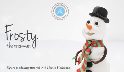 snowman tutorial from modeling chocolate