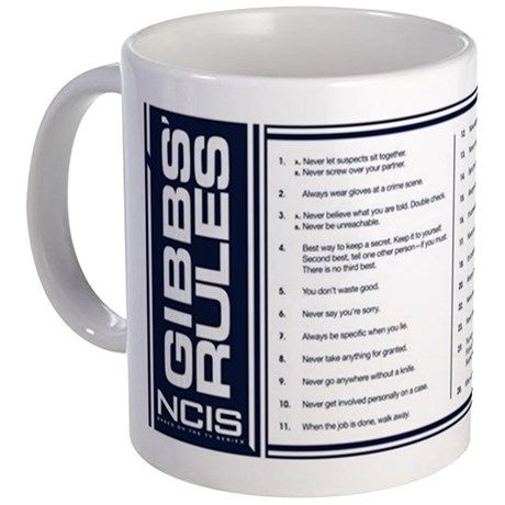 11oz List Of Gibbs Rules Mugs Unique Coffee Mug Coffee Cup | Wish