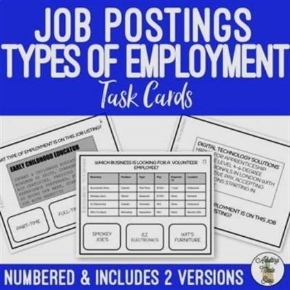 Simple Tips To Help You Get A Job Reading Jobs Life Skills Lessons Task Cards