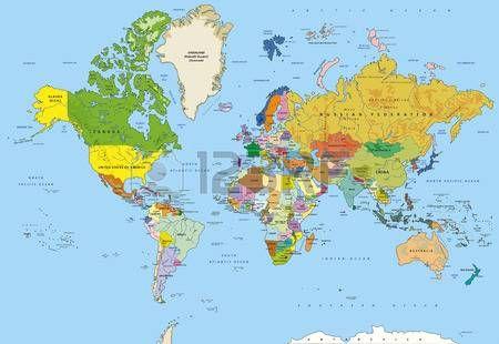 Mapa Rios Del Mundo.Muy Detallado Mapa Del Mundo De La Politica Con Mayusculas