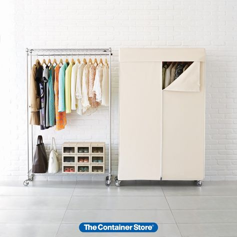 NEW Portable Closet Wardrobe Clothes Garment Rack Home Fabric Storage Heavy Duty