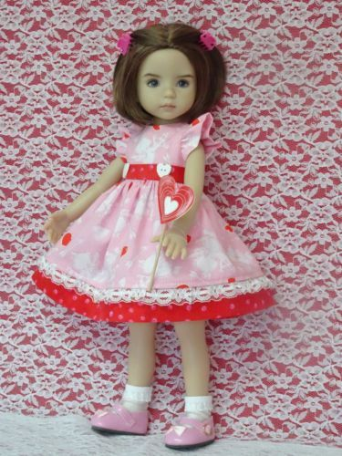 """FLORAL LaceUp Boots Doll Shoes For Dianna Effner 13/"""" Little Darling Vinyl Debs"""