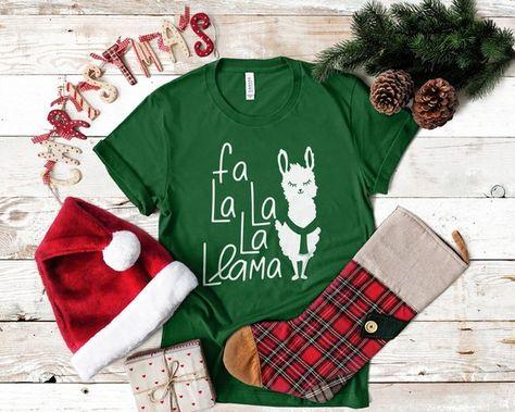Christmas Shirt Sayings.Women S Llama Christmas Shirt Christmas Graphic Tee Shirts