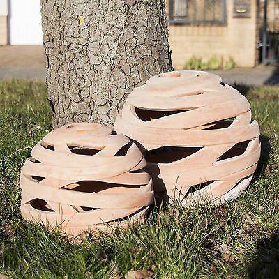 Kugel Dekokugel Gartendeko Laterne Durchbrochen D 18cm 26cm 34cm Terracotta Ebay Garten Deko Laterne Kugel