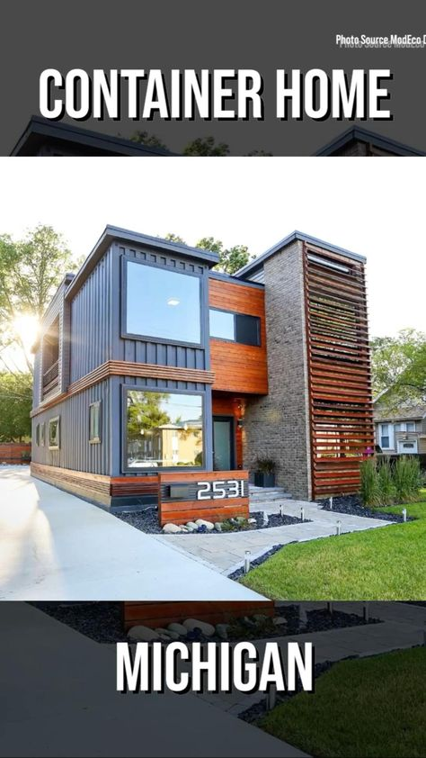Container Home by ModEco Development in Michigan
