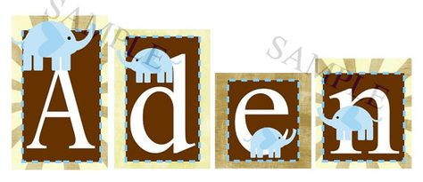 Baby elephants name blocks.. so cute!!!