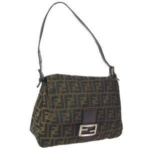 be1562a6bde2 Fendi Two Way Style  regimental  Line Excellent Vintage Cb Shoulder Clutch  Shoulder Bag