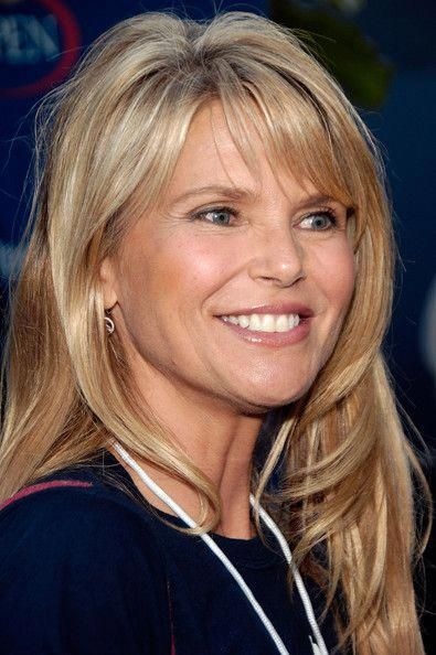 recent pics of christy brinkley | Christie Brinkley Christie Brinkley arrives for the Buzz Party before ...this is her before plastic....so much prettier #BangsHairstyle