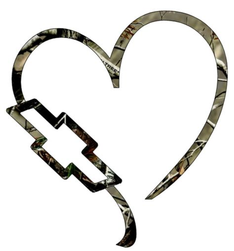 Like the camo heart without the Chevy emblem.