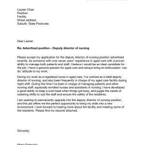 27 Nursing Student Cover Letter Nursing Students Cover Letter