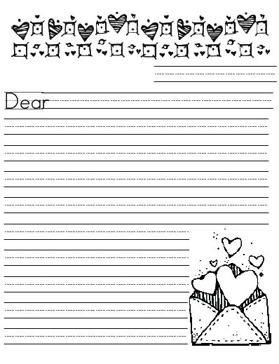 printables to work on handwriting Fun ideas for DIY around the - letter writing template