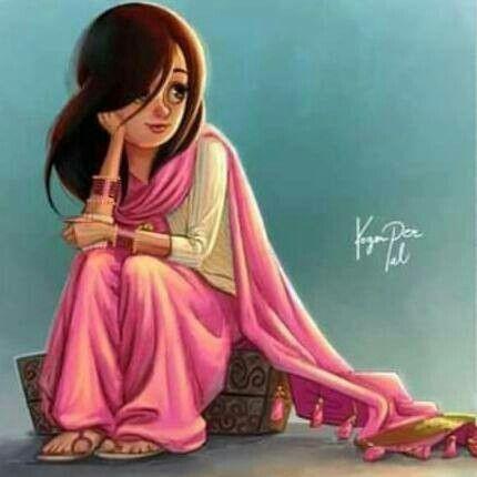 Pin By Kira On Beautiful Cute Girl Sketch Cartoon Girl Images Cute Cartoon Girl