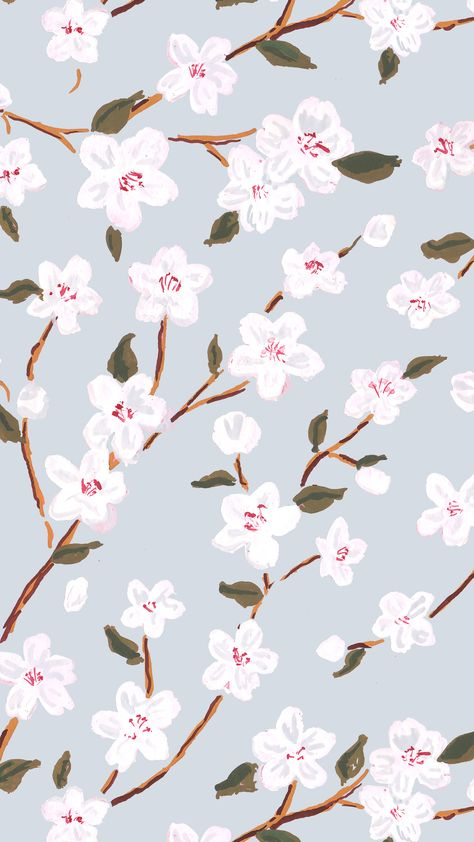 Floral pattern in gouache by Lydia Carns