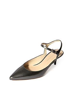 867911f404 KAREN MILLEN WOMEN'S COURT LEATHER KITTEN HEEL PUMPS. #karenmillen #shoes #